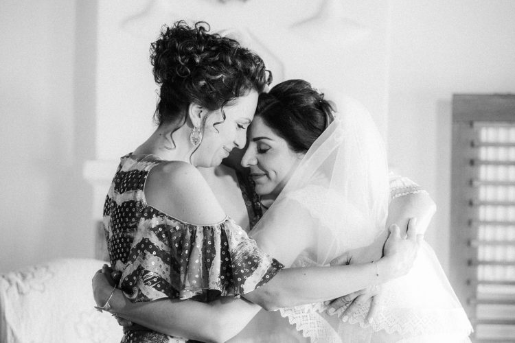the bride with her sister